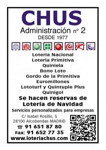 Loterias y apuestas del estado - CHUS anuncio SEDINFO