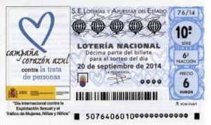 Décimo Lotería Nacional del sorteo 76/2014