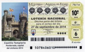 Décimo Lotería Nacional del sorteo 78/2014