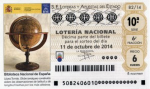 Décimo Lotería Nacional del sorteo 82/2014