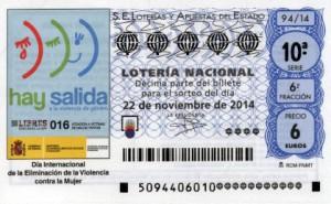 Décimo Lotería Nacional del sorteo 94/2014
