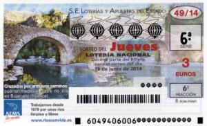 Décimo Lotería Nacional del jueves 48/2014