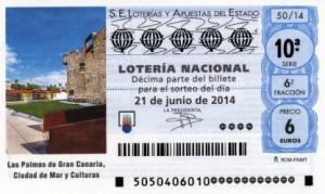 Décimo Lotería Nacional del sorteo 49/2014