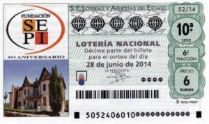 Décimo Lotería Nacional del sorteo 52/2014