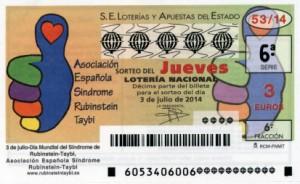 Décimo Lotería Nacional del sorteo 53/2014