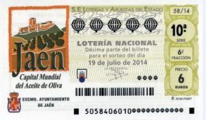 Décimo Lotería Nacional del sorteo 58/2014