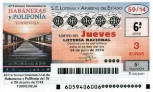 Décimo Lotería Nacional del sorteo 59/2014