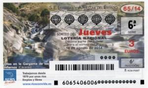 Décimo Lotería Nacional del sorteo 65/2014