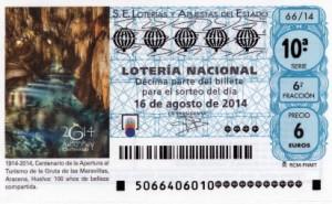 Décimo Lotería Nacional del sorteo 66/2014