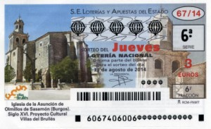 Décimo Lotería Nacional del sorteo 67/2014