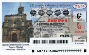 Décimo Lotería Nacional del sorteo 71/2014