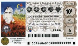 Décimo Lotería Nacional del sorteo 74/2014