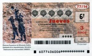 Décimo Lotería Nacional del sorteo 77/2014