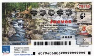 Décimo Lotería Nacional del sorteo 79/2014