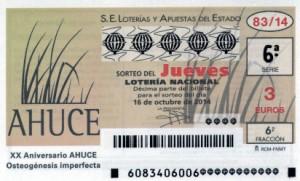 Décimo Lotería Nacional del sorteo 83/2014