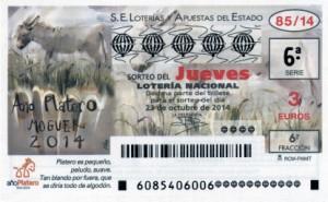 Décimo Lotería Nacional del sorteo 85/2014