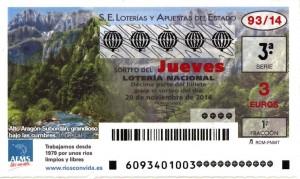 Décimo Lotería Nacional del sorteo 93/2014