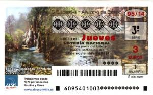 Décimo Lotería Nacional del sorteo 95/2014 - CHUS