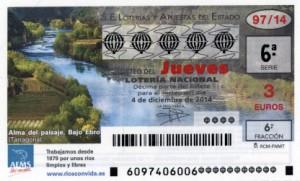 Décimo Lotería Nacional del sorteo 97/2014