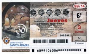 Décimo Lotería Nacional del sorteo 99/2014