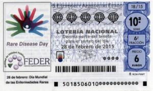 Décimo Lotería Nacional del sorteo 18/2015