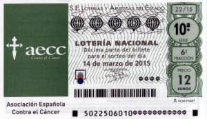 Décimo Lotería Nacional del sorteo 22/2015