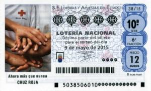 Décimo Lotería Nacional del sorteo 38/2015