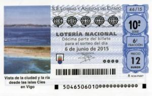 Décimo Lotería Nacional sorteo 46/2015