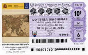 Décimo Lotería Nacional sorteo 50/2015