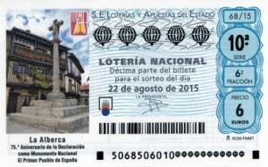 S68_220815 - Imagen Décimo Loteria Nacional